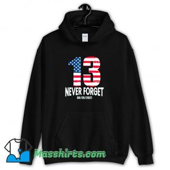 Never Forget 13 American Flag Vintage Hoodie Streetwear