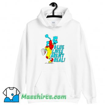 New Blue Lives Arent Real Hoodie Streetwear