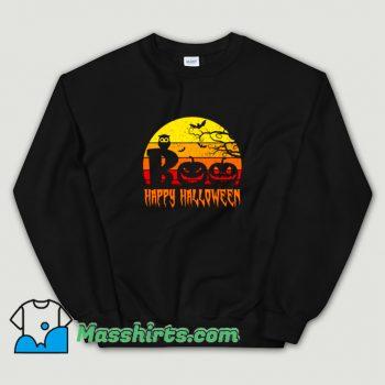 New Boo Happy Halloween Sweatshirt