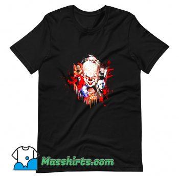 New Halloween Characters Horror T Shirt Design