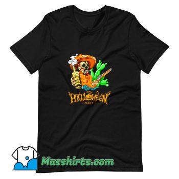 New Happy Halloween Party Skeleton T Shirt Design
