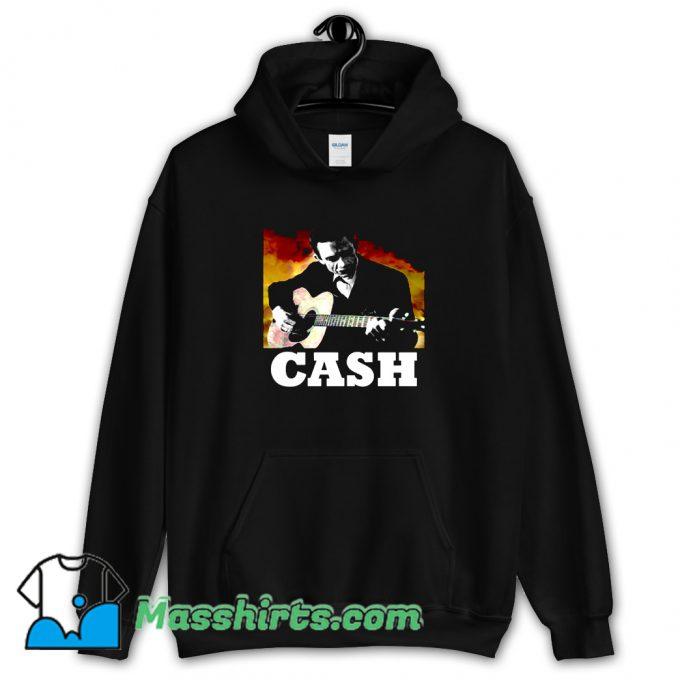 New Johnny Cash Playing Guitar Hoodie Streetwear