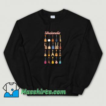 New Ukelandia Guitar Music Sweatshirt