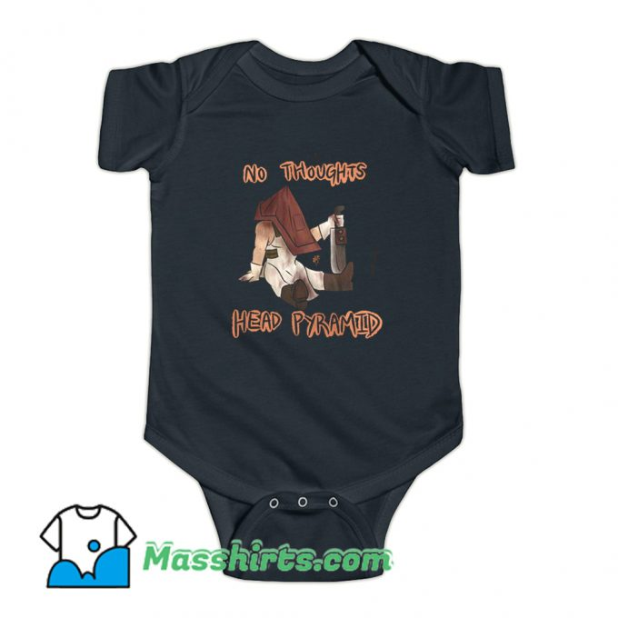 No Thoughts Head Pyramid Baby Onesie