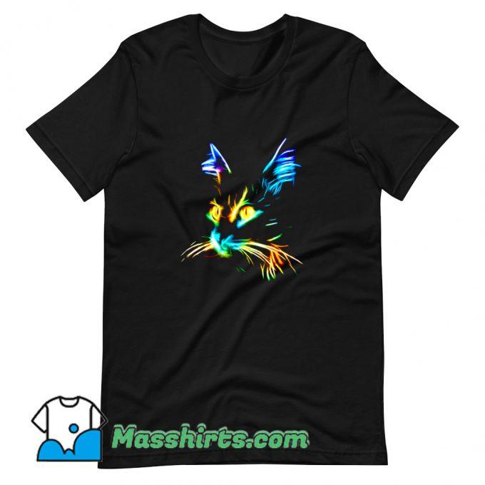 Original Inspirational Cat Colourfull T Shirt Design