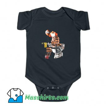 Pennywise IT Denver Broncos Toilet Baby Onesie