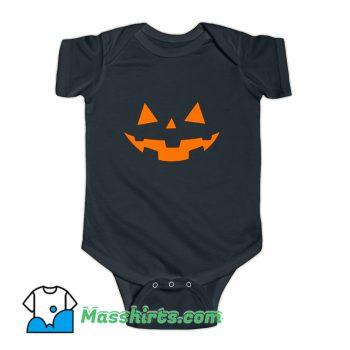 Scary Pumpkin Face Halloween Baby Onesie