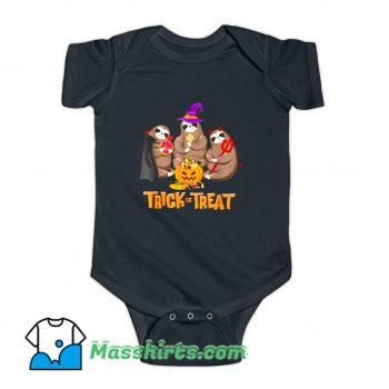 Sloth Trick Or Treat Happy Halloween Baby Onesie