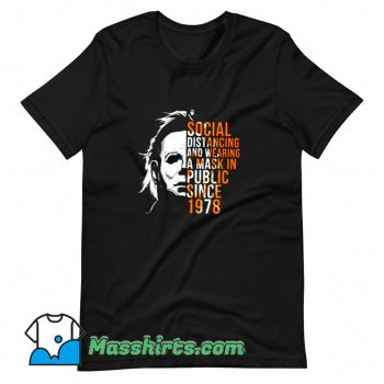 Social Distancing And Wearing A Mask T Shirt Design