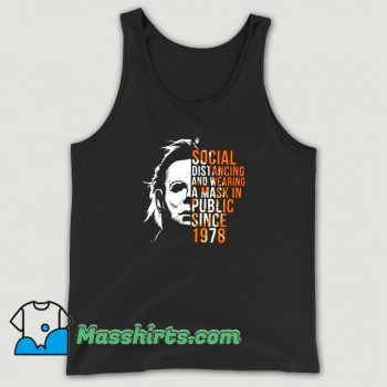 Social Distancing And Wearing A Mask Tank Top