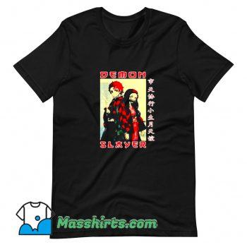 Vintage Demon Slayer Kimetsu No Yaiba T Shirt Design