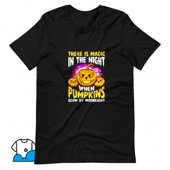 Vintage Halloween Pumpkin Magic In The Night T Shirt Design