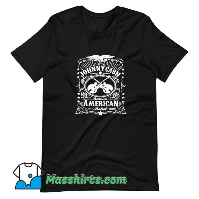 Vintage Johnny Cash American Rebel T Shirt Design
