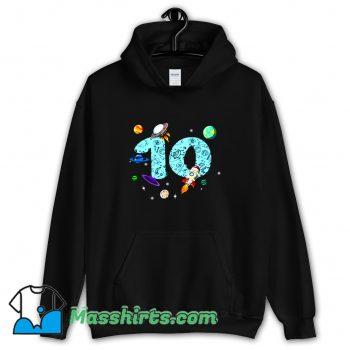 10 Years Old Birthday Boy Hoodie Streetwear