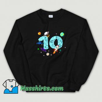 10 Years Old Birthday Boy Sweatshirt On Sale