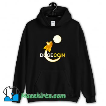 Awesome Dogecoin To The Moon Hoodie Streetwear