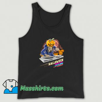 Awesome Halloween Horror Party Live DJ Music Tank Top