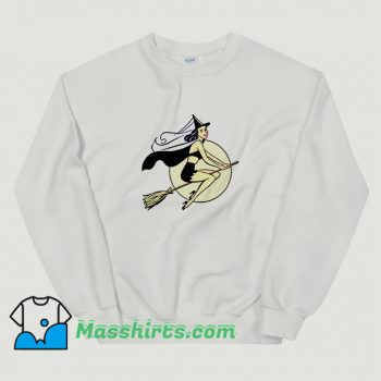 Awesome Witch Halloween Broom Sweatshirt