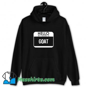Best Halloween Hello My Name Is Goat Hoodie Streetwear