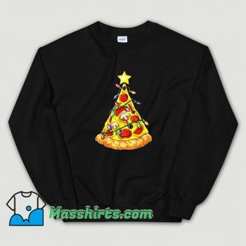 Best Pizza Christmas Tree Lights Sweatshirt