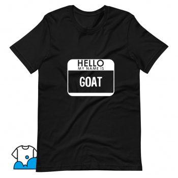 Cheap Halloween Hello My Name Is Goat T Shirt Design