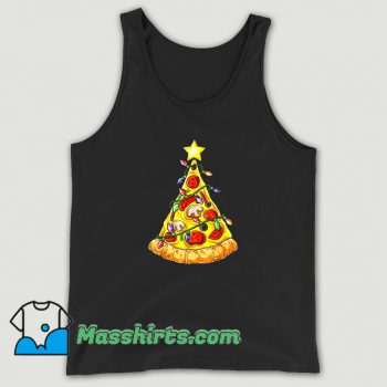 Cheap Pizza Christmas Tree Lights Tank Top