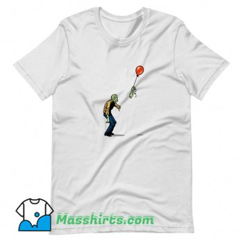Cheap Zombie And Baloon T Shirt Design