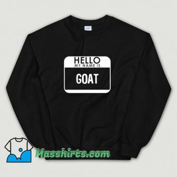 Classic Halloween Hello My Name Is Goat Sweatshirt