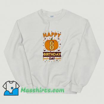 Classic Happy 8Th Birthday Pumpkin Halloween Sweatshirt