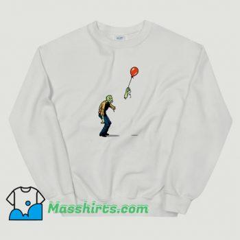 Classic Zombie And Baloon Sweatshirt