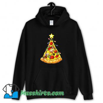 Cool Pizza Christmas Tree Lights Hoodie Streetwear