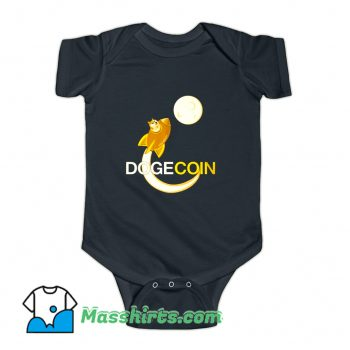 Dogecoin To The Moon Baby Onesie