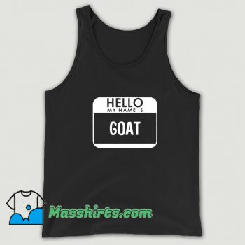 Funny Halloween Hello My Name Is Goat Tank Top