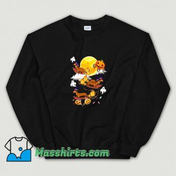 Happy Halloween Dachshund Witch Dogs Sweatshirt