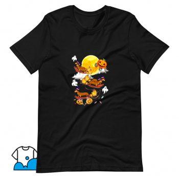 Happy Halloween Dachshund Witch Dogs T Shirt Design
