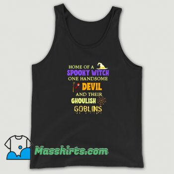 Home Of A Spooky Witch One Handsome Tank Top On Sale