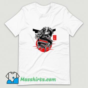 Japanese Dragon Ninjutsu Martial T Shirt Design On Sale