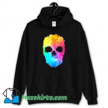 Mighty Oak Colorful Floral Skull Hoodie Streetwear
