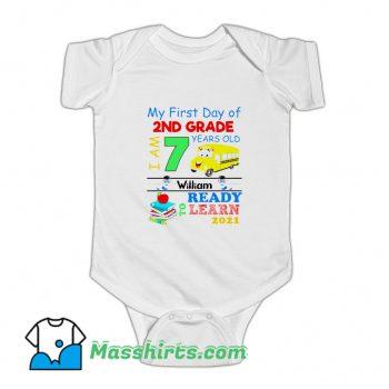 My First Day Of 2Nd Grade Baby Onesie