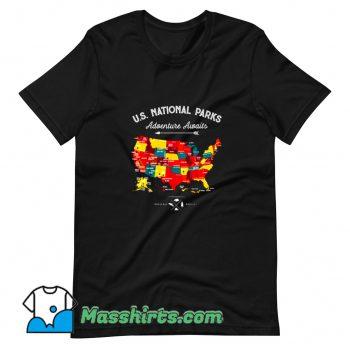 National Parks Map Camping Haiking T Shirt Design
