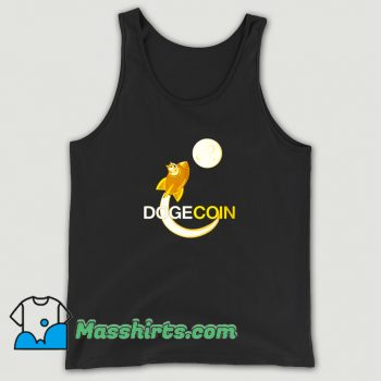 New Dogecoin To The Moon Tank Top