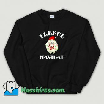 New Fleece Navidad Feliz Sheep Christmas Sweatshirt