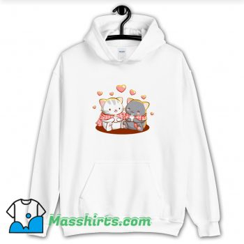 Vintage Cats Amine Gift For Girls Valentines Day Hoodie Streetwear