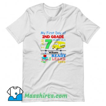 Vintage My First Day Of 2Nd Grade T Shirt Design